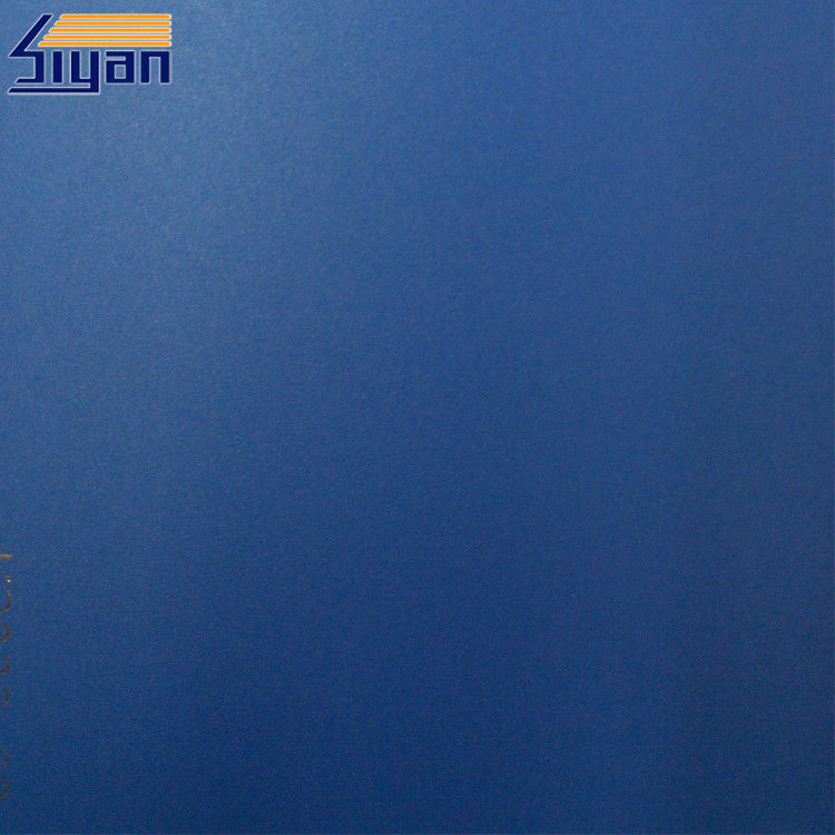 Blue Custom PVC Decorative Foil For Furniture Surface , 650-1400mm Width