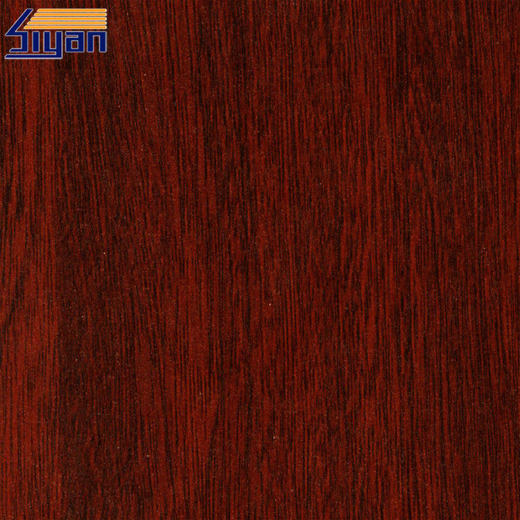 Cherry Wood Grain PVC Decorative Foil 0.12mm For Ceiling And Doors